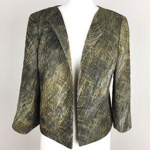Lafayette 148 NY Blazer Textured Crop $298 Size 4